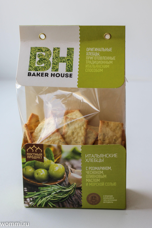 Baker House Итальянские хлебцы с розмарином и чесноком